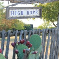 high hope sign