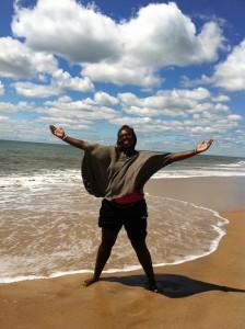 soyinka beach arms open