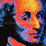 Digitised portrait of mathematician Blaise Pascal